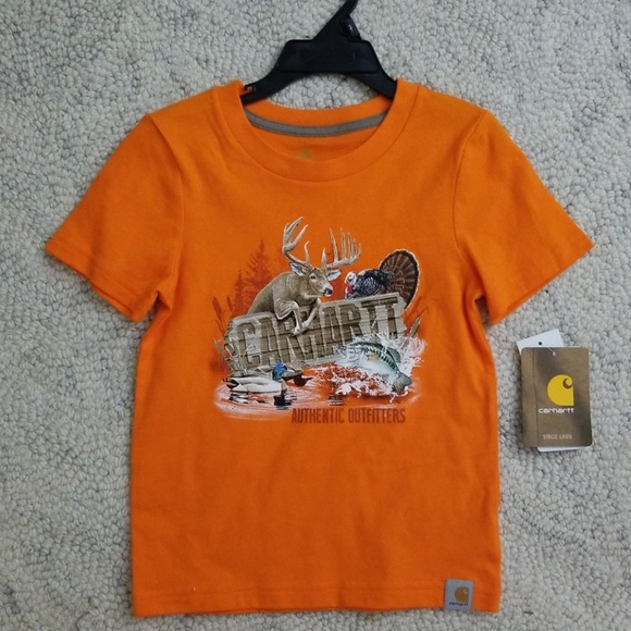 Carhartt Shirts Tops 3t Orange Deer Hunting Shirt Poshmark